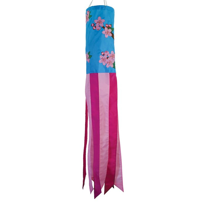 "Load image into Gallery viewer, ""Cherry Blossoms"" Windsock; Nylon"