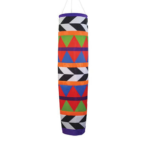 """Geometric Arrow"" Cone Style Windsock; Polyester"