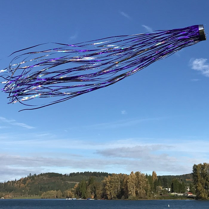 Load image into Gallery viewer, Purple Holographic Windsock; Mylar