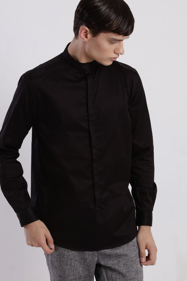 MARVIN SHIRT - BLACK