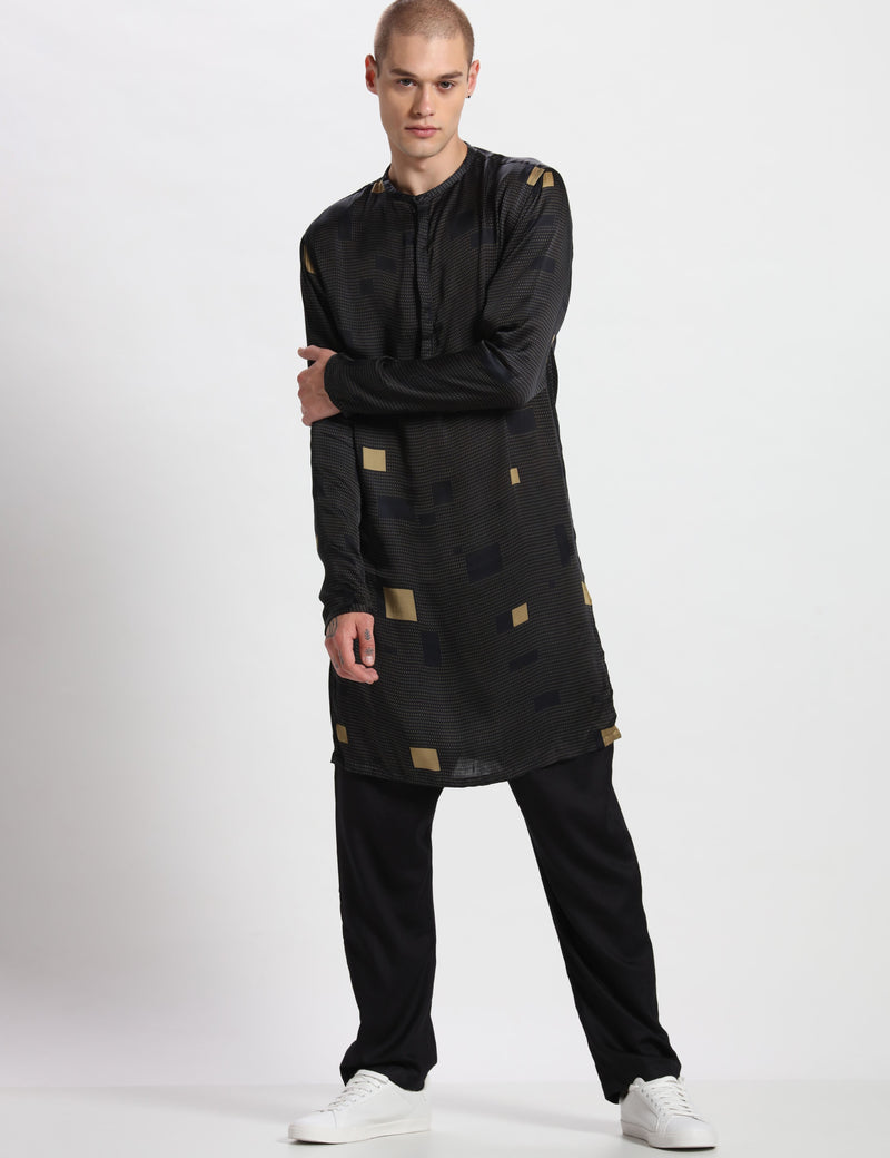 OXFORD KURTA - BLACK