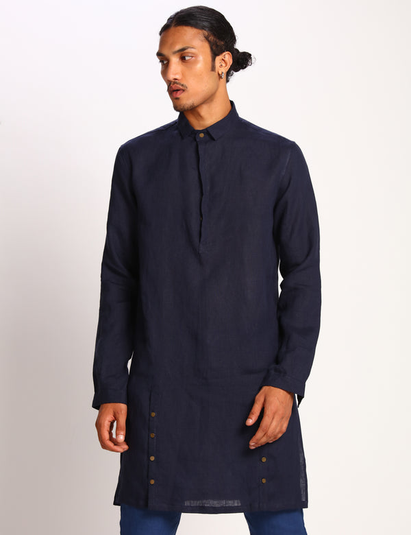DENVER KURTA - NAVY