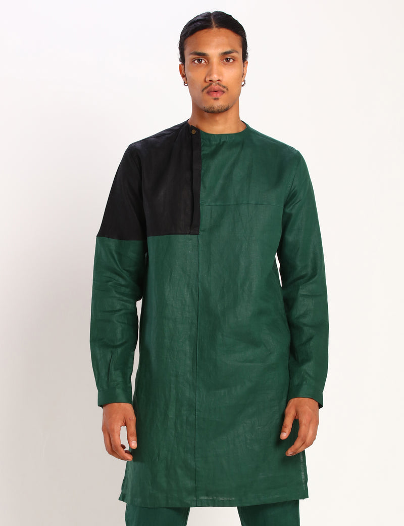 POKER KURTA - GREEN