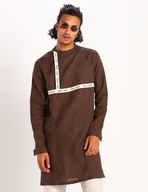 XAVIER KURTA - BROWN