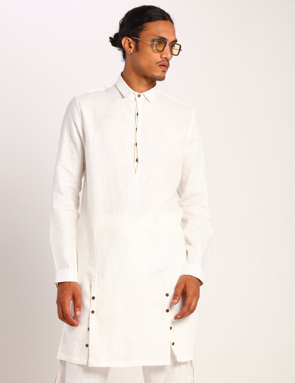 DENVER KURTA - WHITE