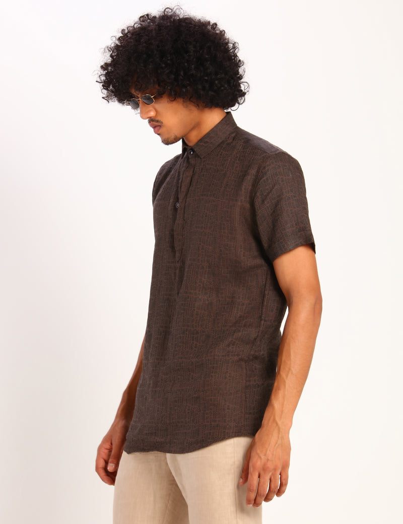 ATLANTA CHAOS SHIRT - BROWN
