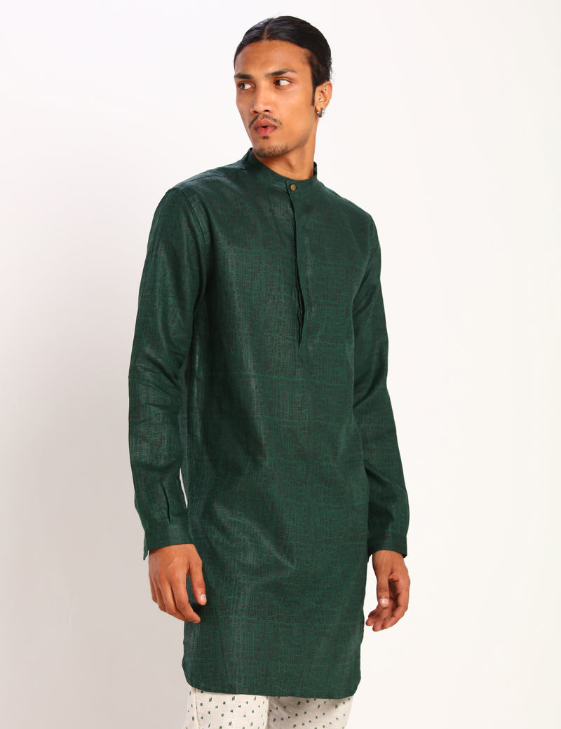 SHERWOOD CHAOS KURTA - GREEN