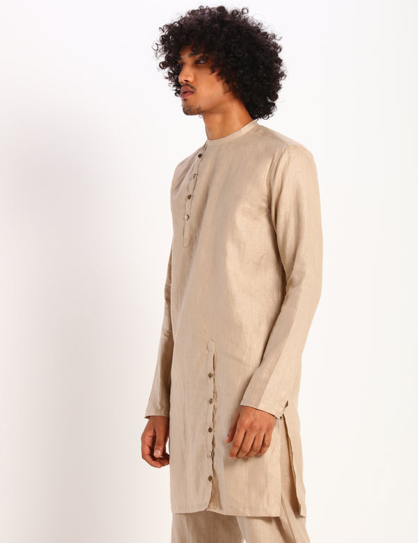 MERGER KURTA - BEIGE