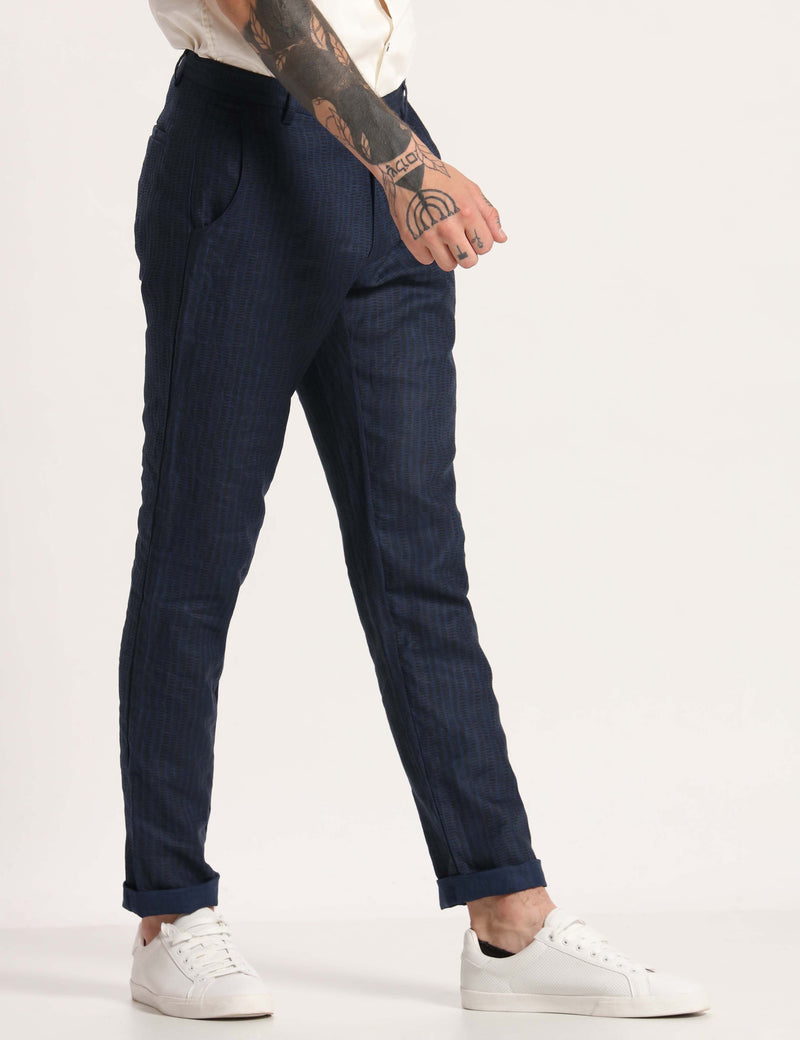 TOCO PRINTED TROUSER - BLUE