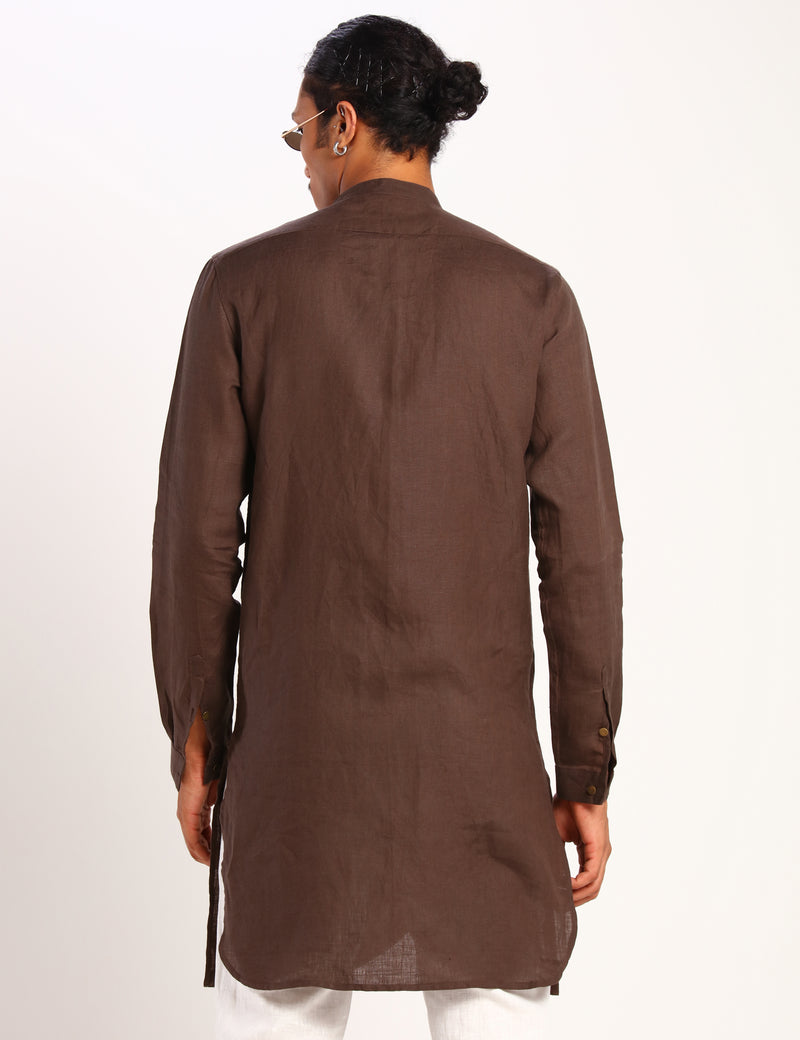 INMAN KURTA - BROWN
