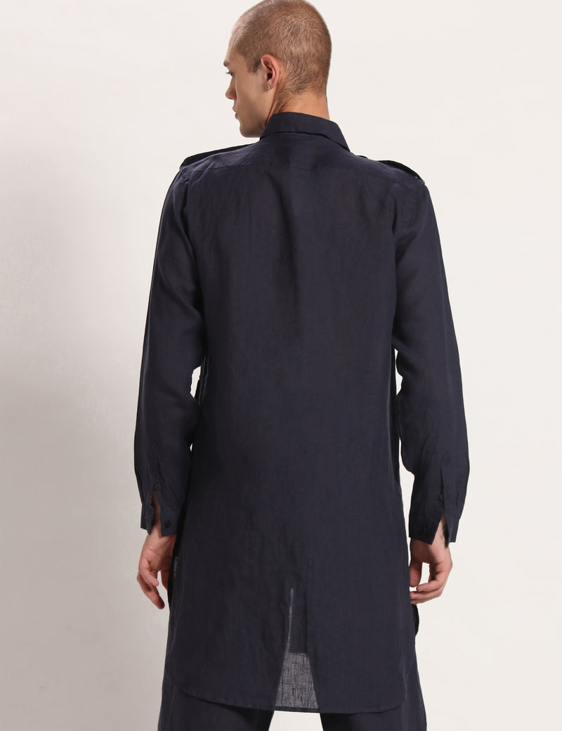 HARMAN KURTA - NAVY