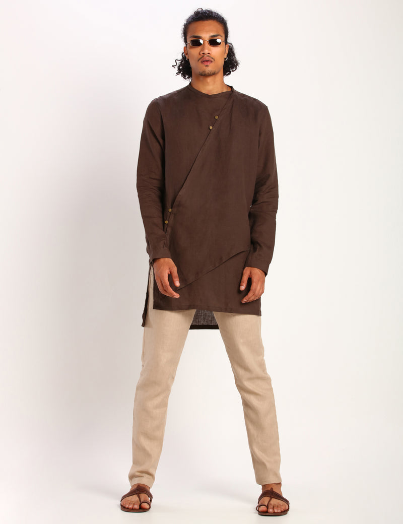 LIAM KURTA - BROWN