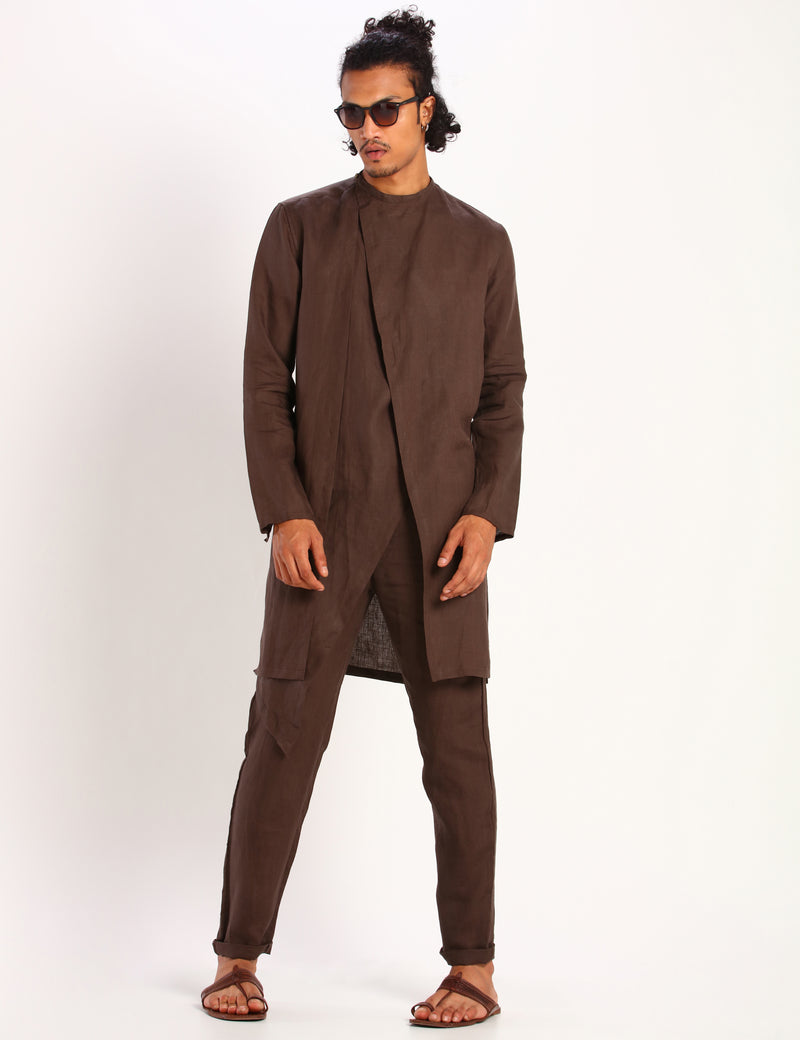 MATSUE KURTA - BROWN