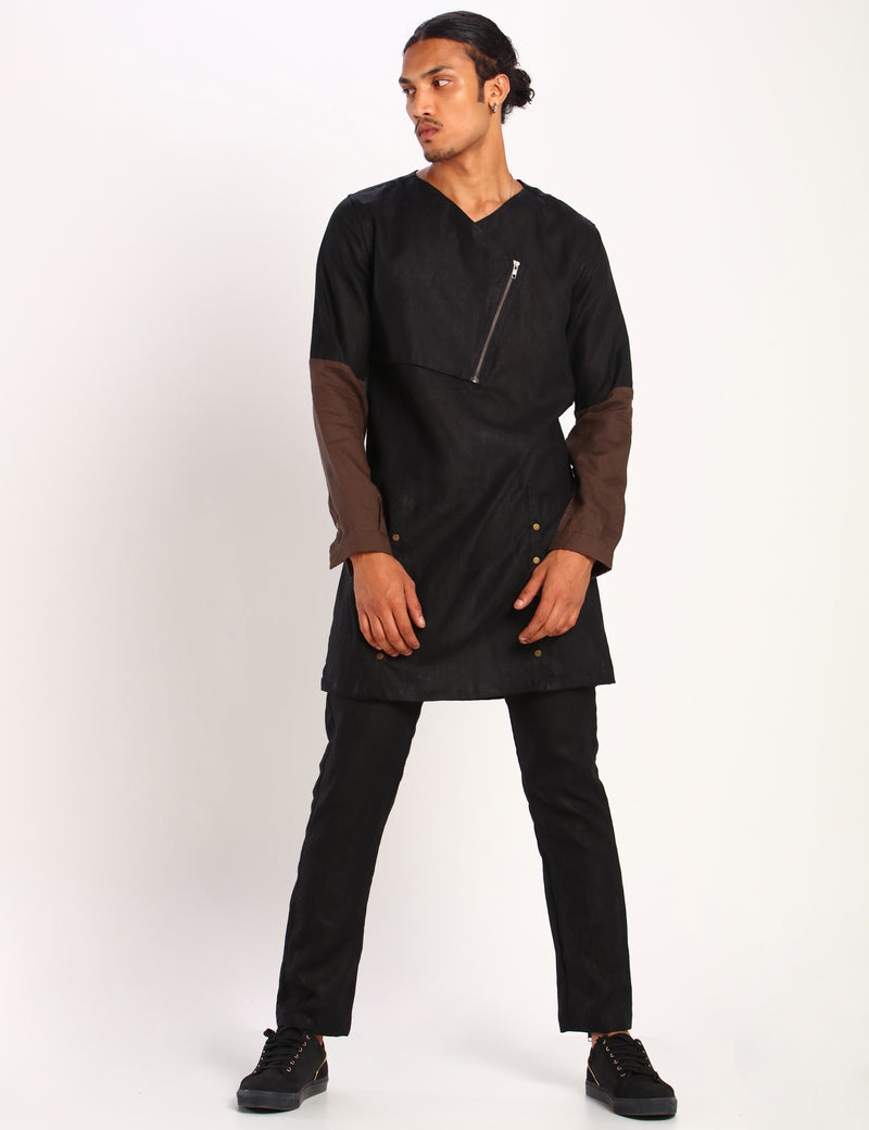 GORDAN KURTA - BLACK