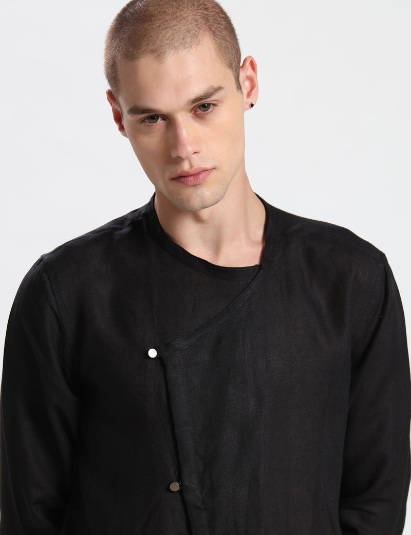 FOX KURTA - BLACK