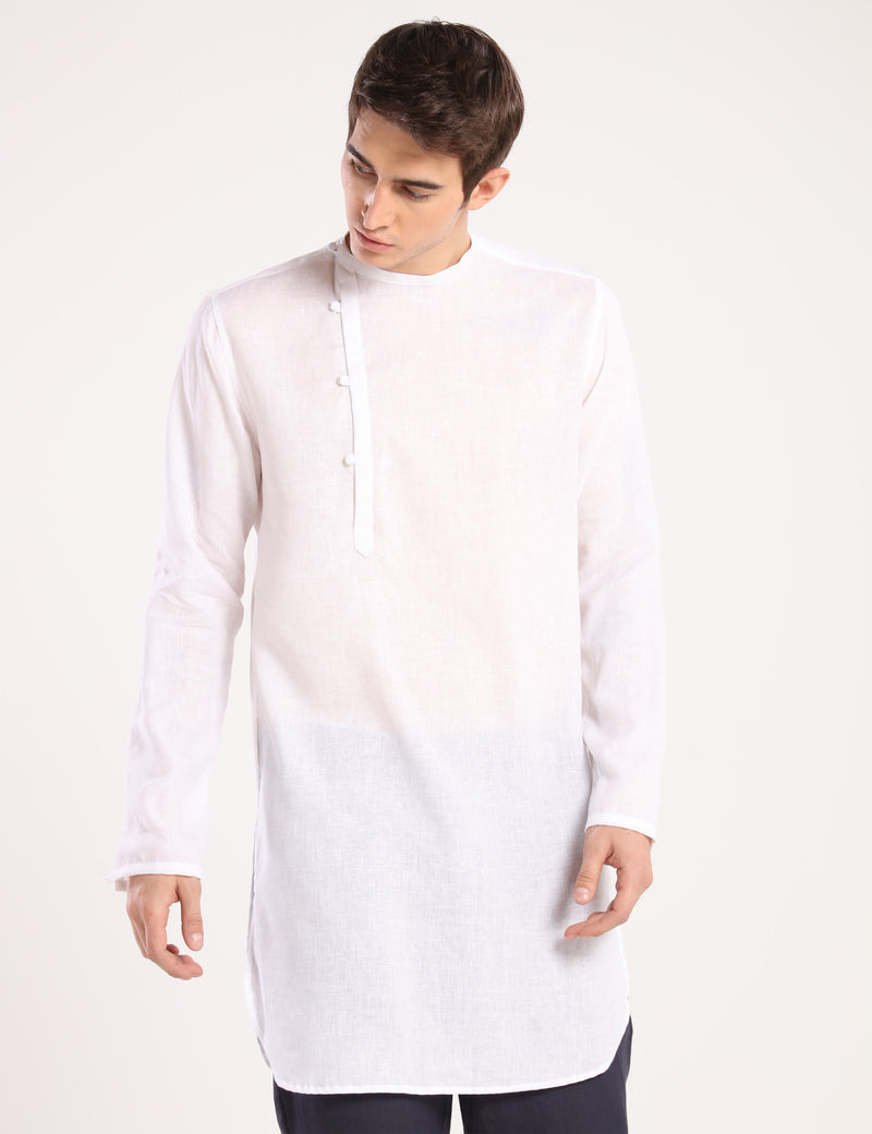 LUCIFER KURTA - WHITE