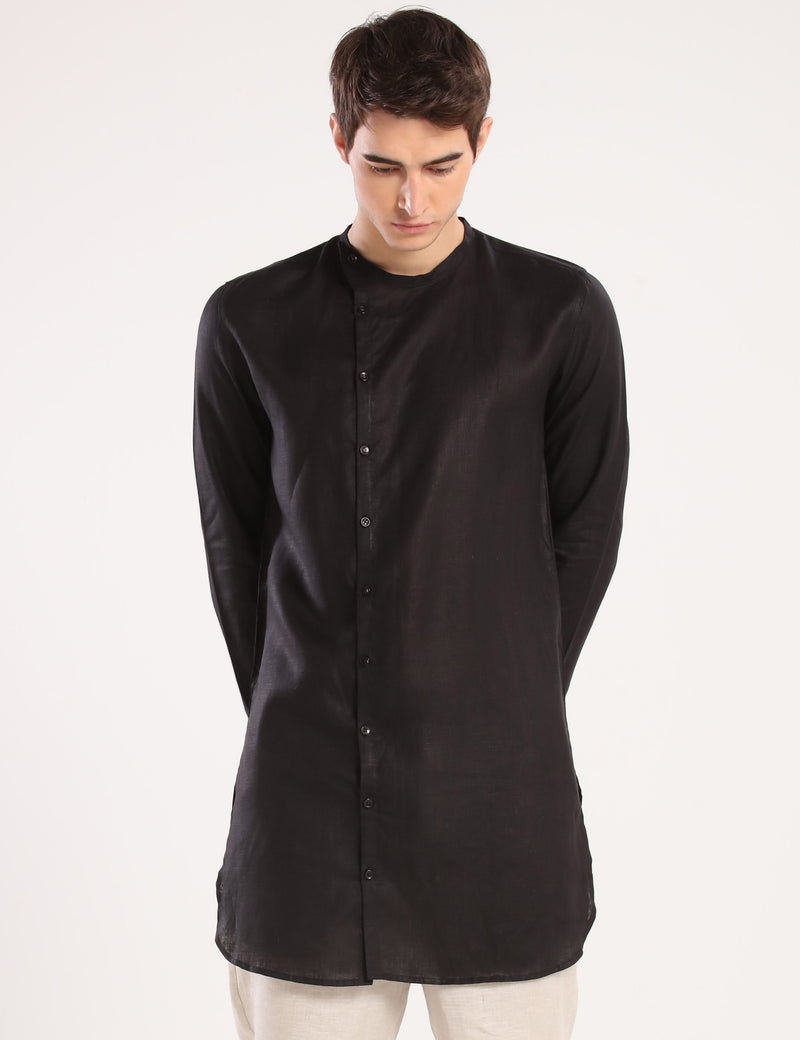 LOGAN KURTA - BLACK