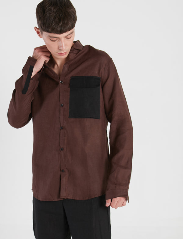 PETER SHIRT - BROWN