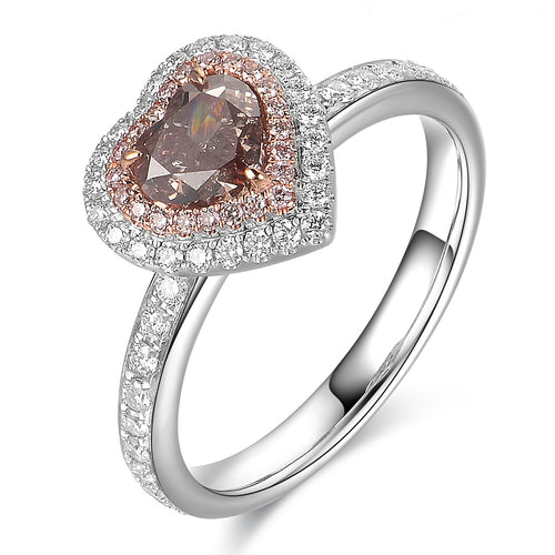 Brownish Pink Diamond Ring - aviadiamonds