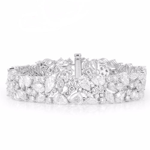 Stardust White Diamond Bracelet - aviadiamonds