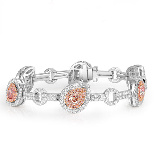 La Reine Light Pink Diamond Bracelet - aviadiamonds