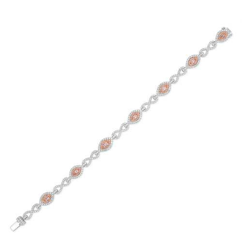 Light Pink Diamond Bracelet - aviadiamonds