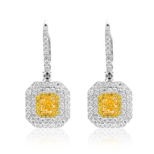 Yellow Diamonds Earrings - aviadiamonds