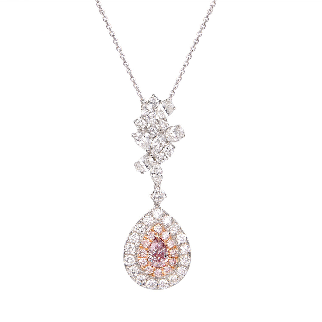 Pink Diamond Pendant - aviadiamonds