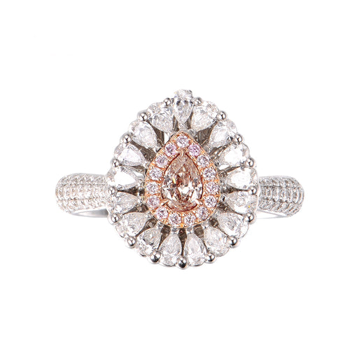 Fancy Brownish Pink Diamond Ring/Pendant - aviadiamonds