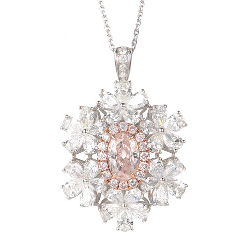 Noelle Champagne Pink Diamond Ring/Pendant - aviadiamonds