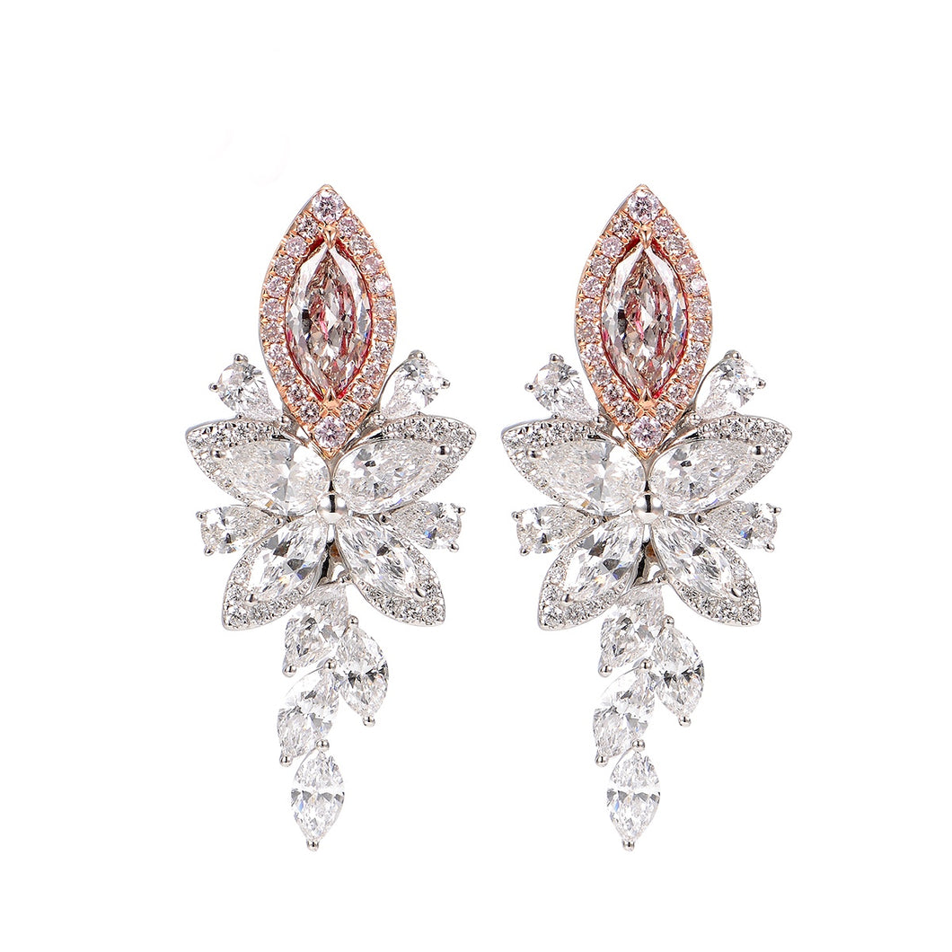 Astra Pink Diamonds Earrings - aviadiamonds