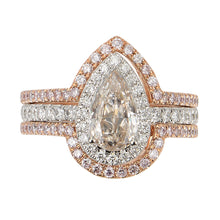 Load image into Gallery viewer, Toi et Moi White and Pink Diamond Rings (set of two) - aviadiamonds