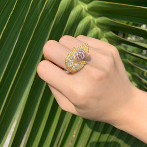 Phoenix Yellow Diamond Ring - aviadiamonds