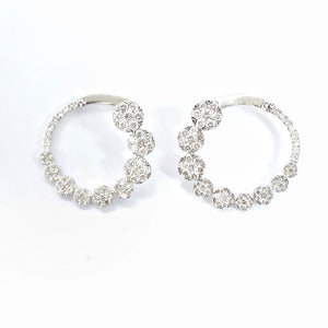 Bezel Diamond Hoops - aviadiamonds