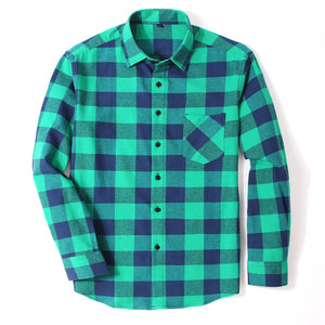 Open image in slideshow, Flannel Men's Plaid Shirt
