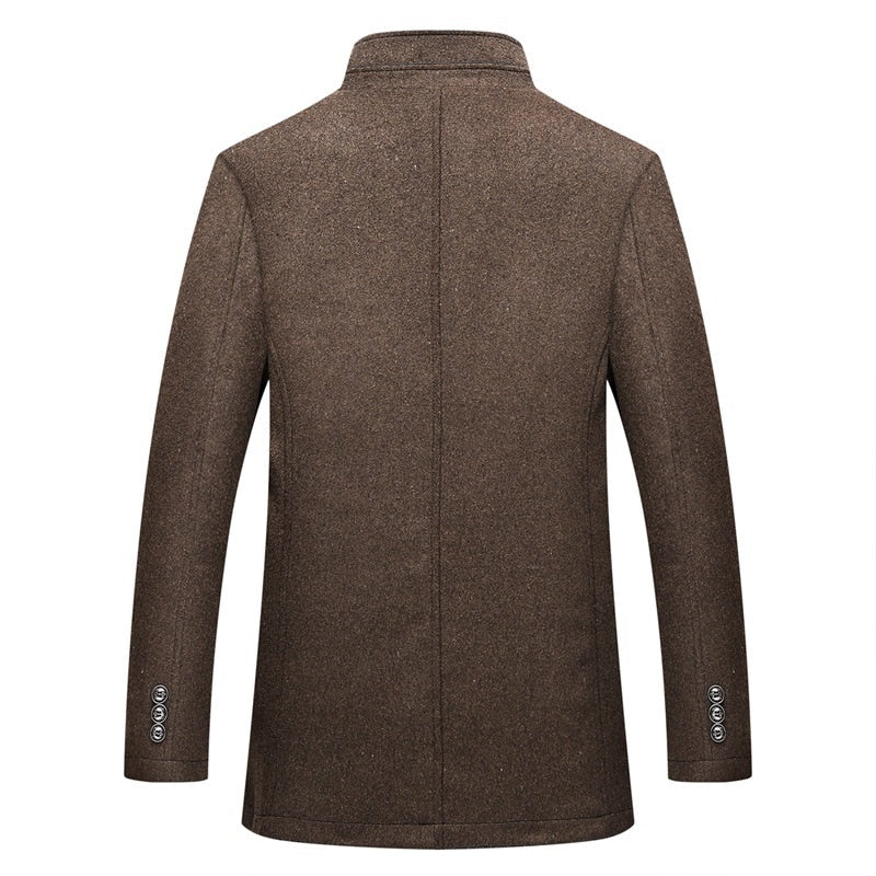 Wool Coat Single Breasted