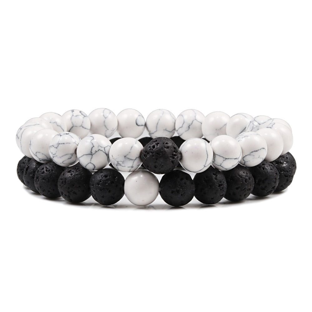 Black White Beads Friendship