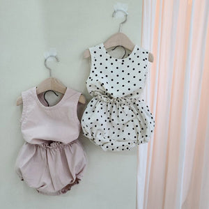 baby clothes polka dot baby boys clothes vest tops
