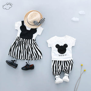 Boys Girls Clothing Sets Children T Shirt Dress/Short