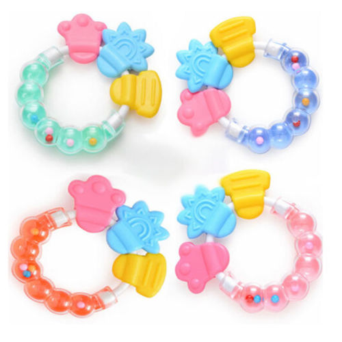 Safety Teether Ring Rattles Balls