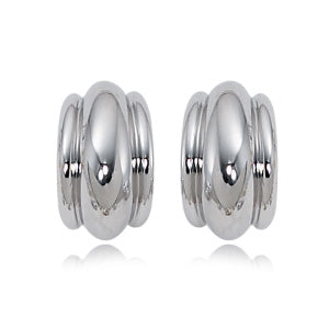Carla Triple Rib Sterling Silver Earrings