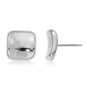 Carla Inverted Square Sterling Silver Stud Earrings