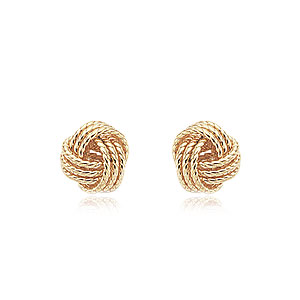 Carla Love Knot Yellow Gold Earrings