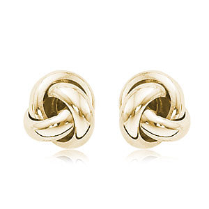 Carla Small Knot Yellow Gold Earrings
