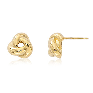 Carla Small Love Knot Yellow Gold Earrings
