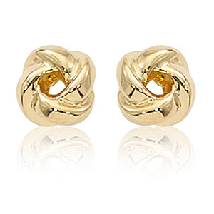 Carla Small 8mm Love Knot Yellow Gold Earrings