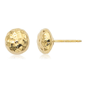 Carla Hammered Ball Yellow Gold Earrings