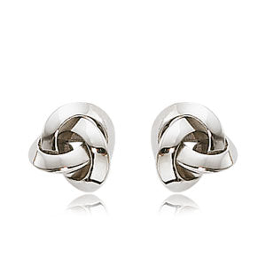 Carla Small Knot White Gold Earrings