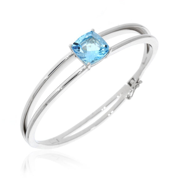 Breuning Blue Topaz Bangle