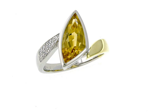 Breuning Gold and Citrine Ring